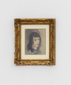 Marie Laurencine, <I>Femme au Foulard Bleu</I>, 1920 ca. </br> watercolor on paper</br> 30 x 25 x 3 cm / 11.8 x 9.8 x 1.1 in