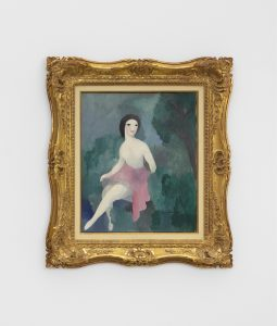Marie Laurencine, <I>Ballerine assise</I>, 1926 ca. </br> oil on canvas</br> 82 x 72,5 x 7,6 cm / 32.2 x 28.5 x 3 in