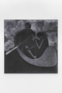 Silke Otto-Knapp, <I>The Boat</I>, 2021 </br> watercolor on canvas</br> 150,5 x 150,5 cm / 59.2 x 59.2 in